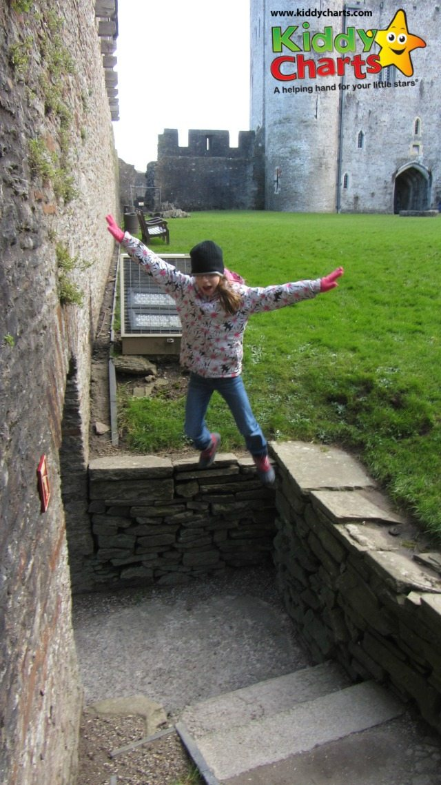 Caerphillip Castle, because of its size, is a wonderful place for the kids to explore - as you can see there are plenty of places to jump off when you are a kid - and lots of fun to be had there...