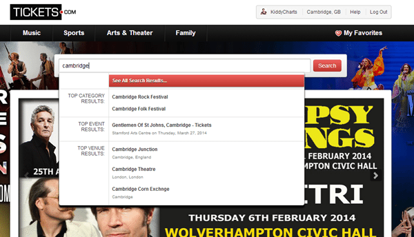 Online tickets: Cambridge listings
