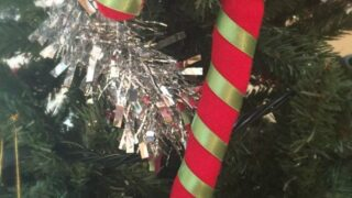 Making easy sew candy cane crafts for your Christmas tree