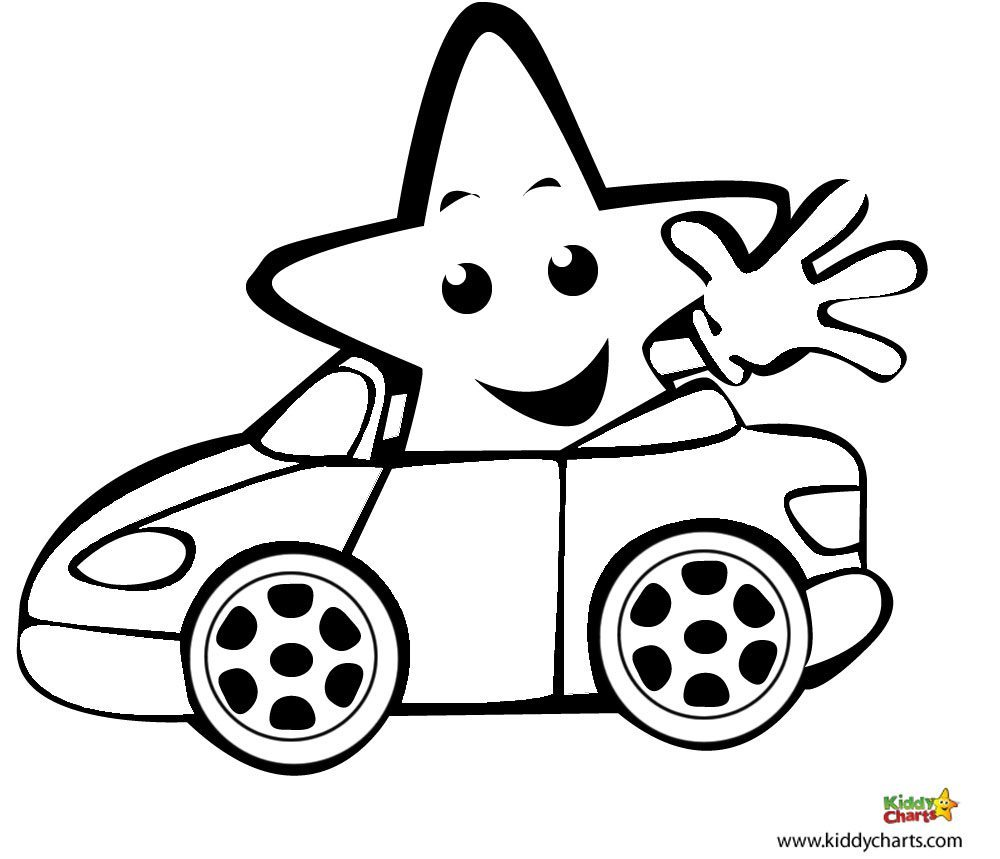 car coloring pages i like driving in my car. Black Bedroom Furniture Sets. Home Design Ideas