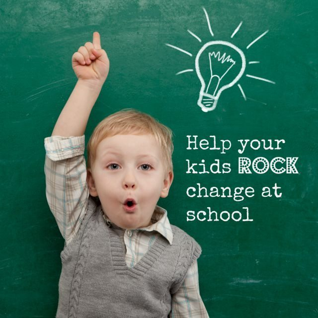There is never an easy time to deal with change at school - we have a few tips to help your kids rock that change!