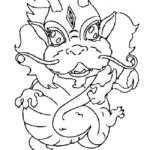Chinese dragons coloring pages for kids