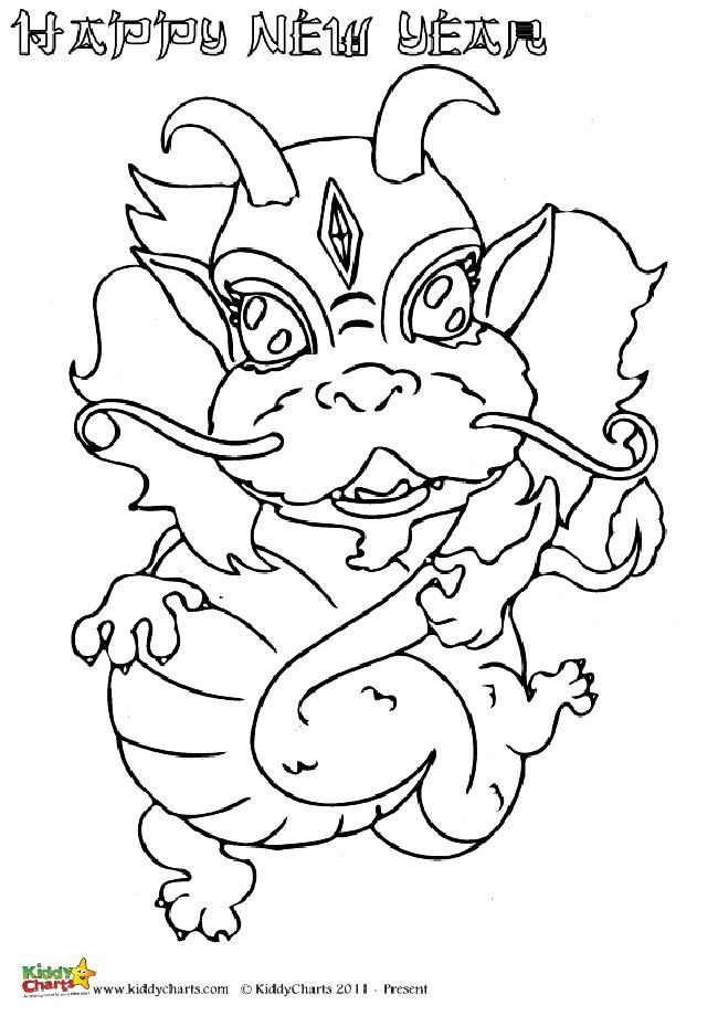 One of four excellent Chinese Dragon coloring pages for the kids. Or perhaps even for parents to relax at Chinese New Year with!