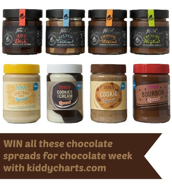 Win all these chocolate spreads for chocolate week from Tesco - why wouldn't you try?