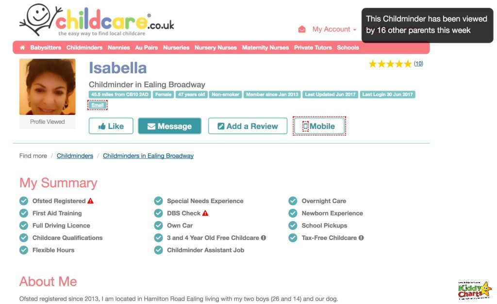 It is easier choosing childcare with the provider profiles on childcare.co.uk because they give you full details of what documentation each provider has given.