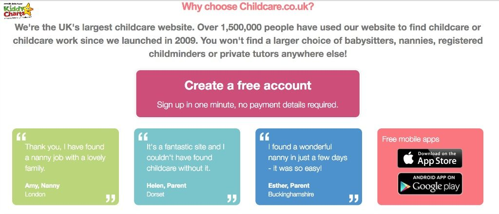 Choosing Childcare can be a lot easier if you register with childcare.co.uk - take a look.
