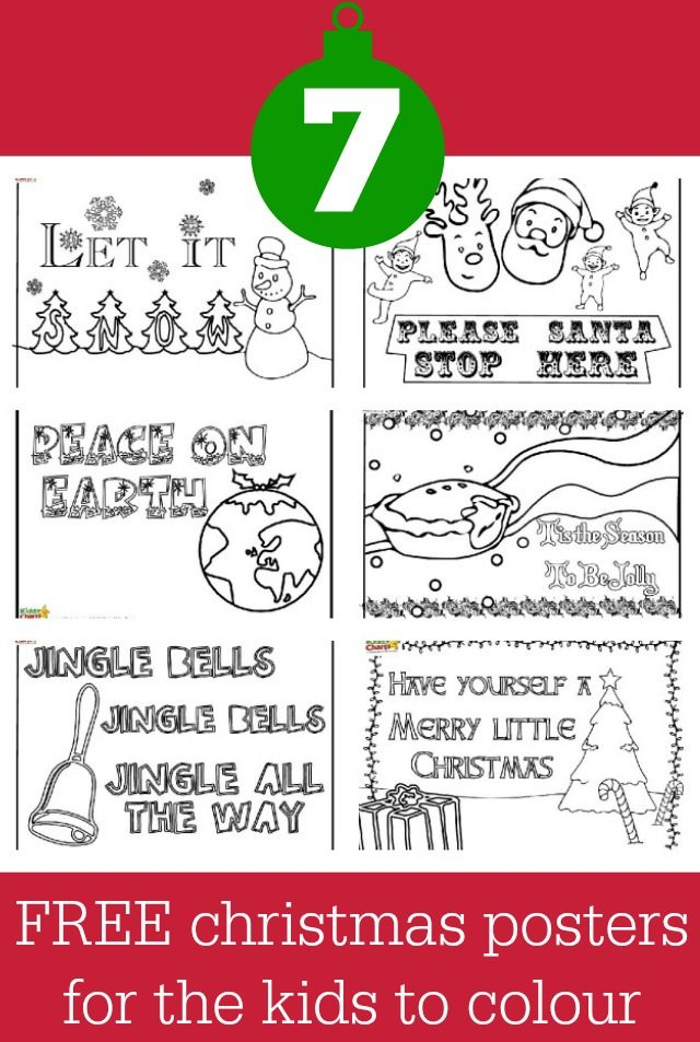 We have some more great Christmas ideas for you. This time some lovely traditional Christmas colouring phrases on posters for your children to try their hand at. Why not give them a go.