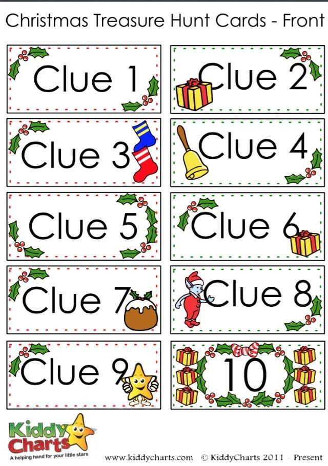Clue cards 1-10