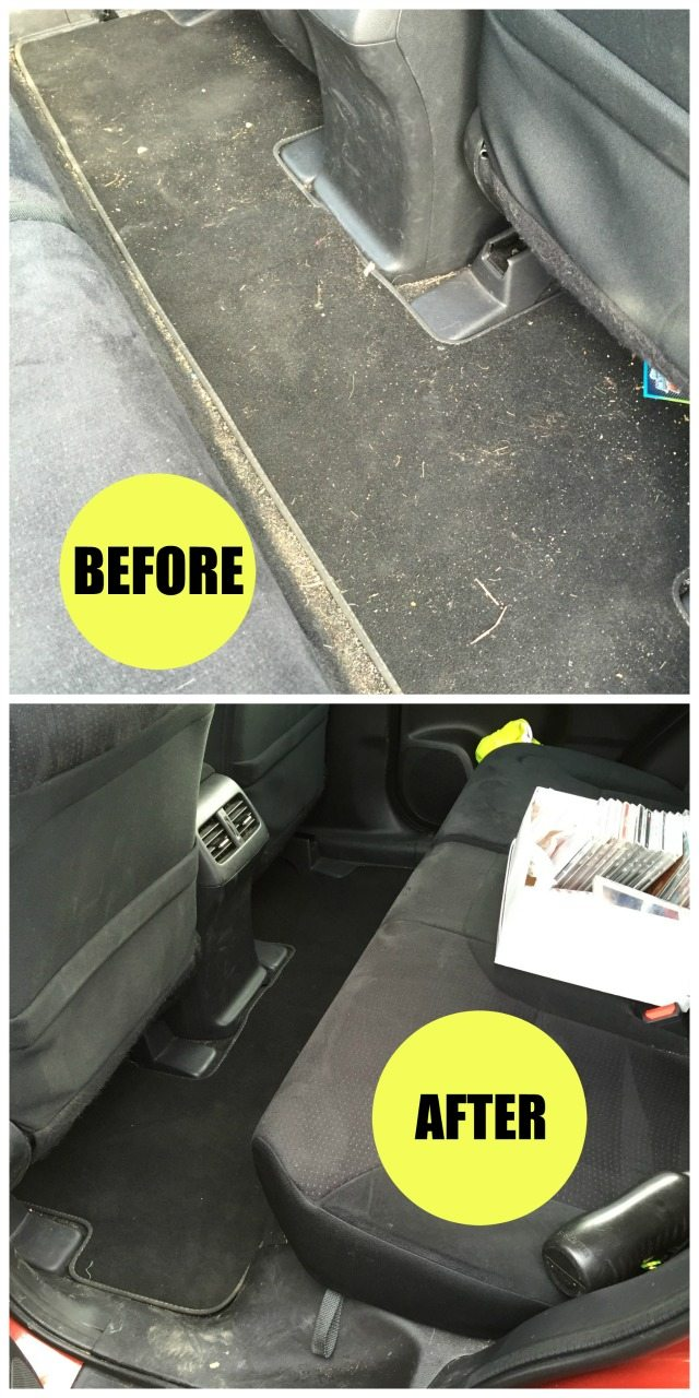 Cleaning the car when you have kids isn't a great thing to have to do. Our top tip is to get a handheld, and as you can see you could do a lot worse than the Dyson Total Clean. Check out the article for more thoughts.