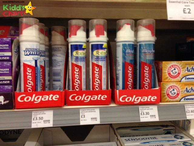 Colgate toothpaste on the shelf in Waitrose