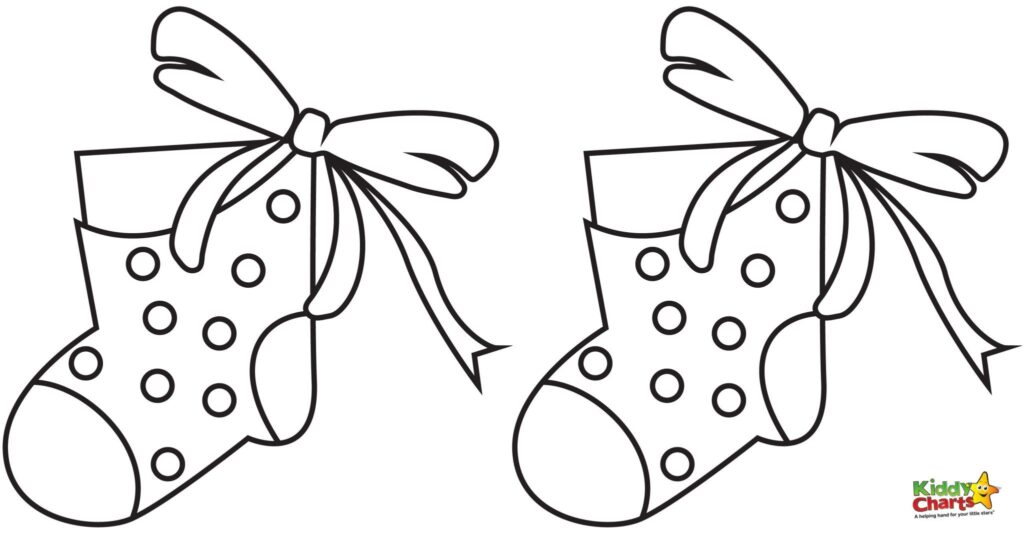 Stocking coloring pages