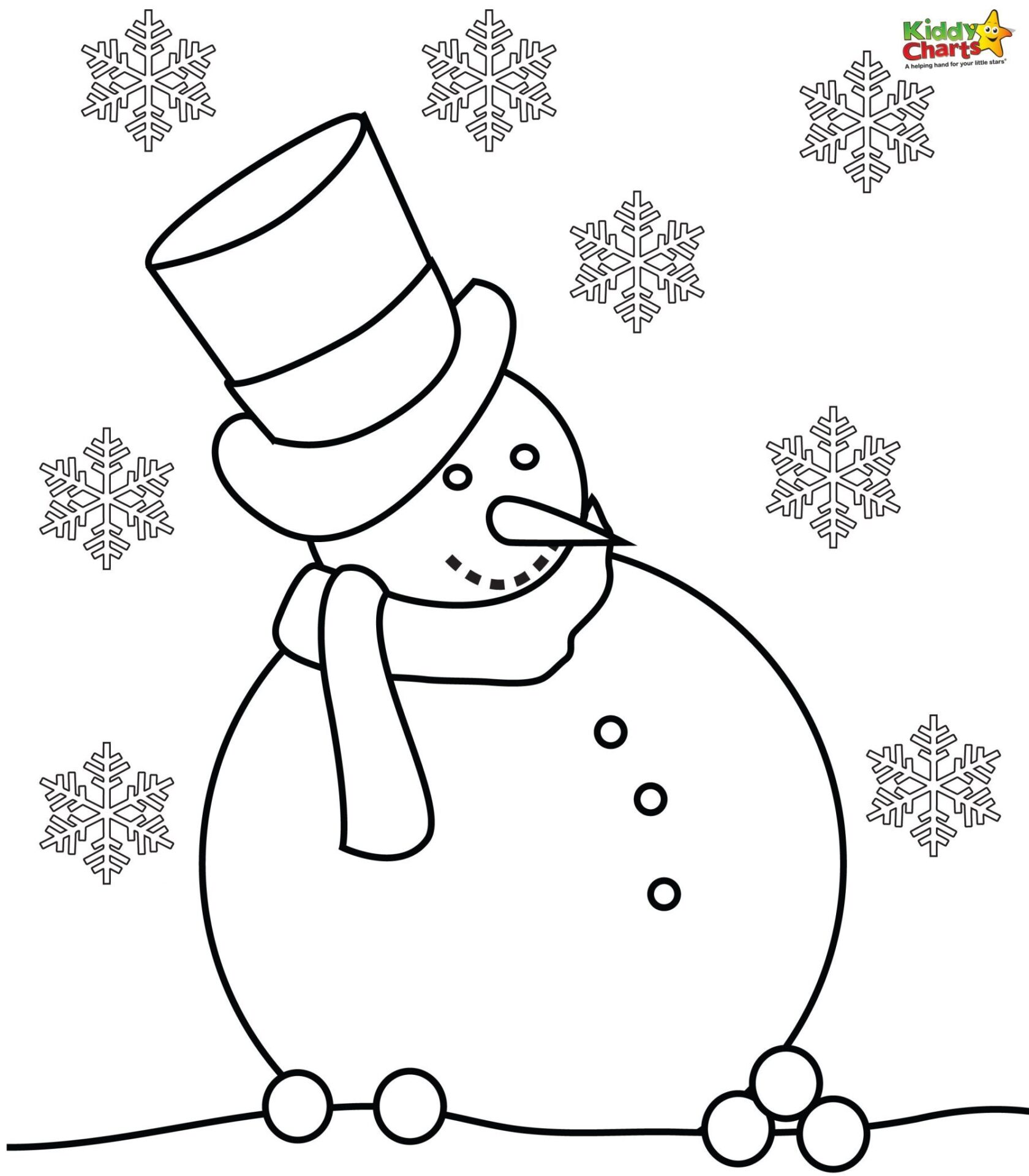 Snowman coloring pages for Coloring pages of snowman