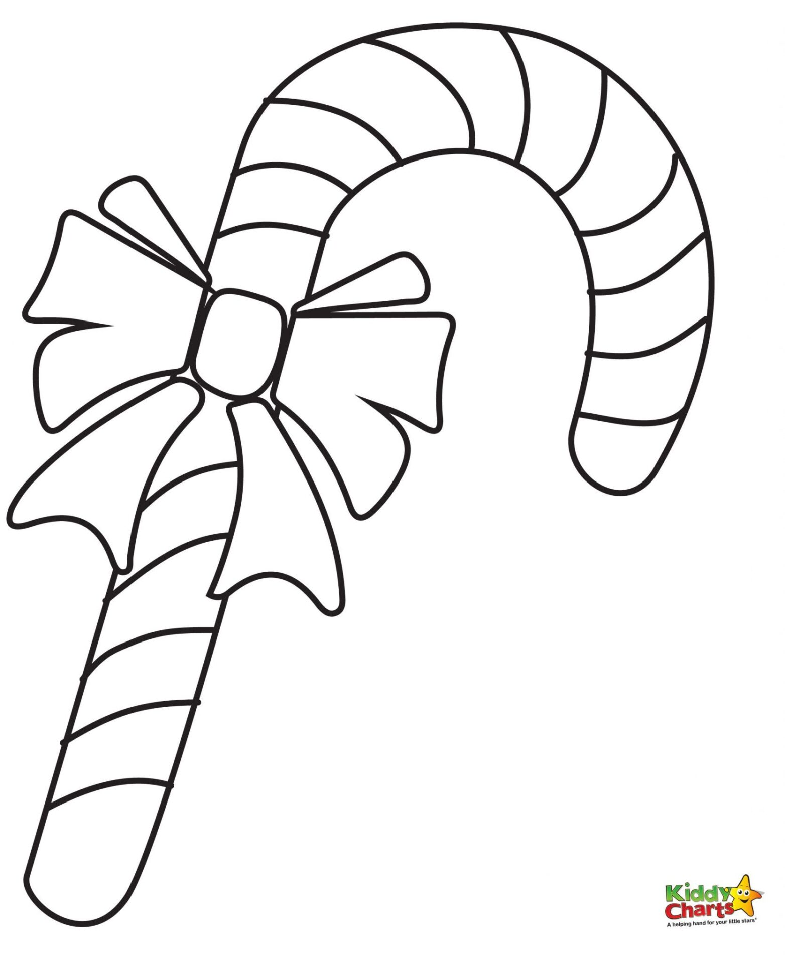 large candy cane coloring pages - photo#9