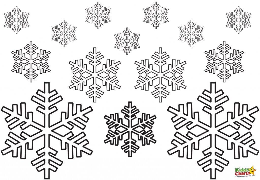 snowflake coloring pages for children - photo#44