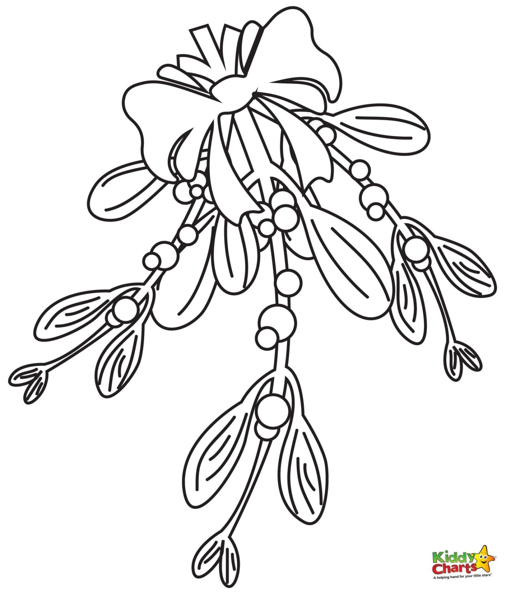mistletoe coloring pages - photo#7