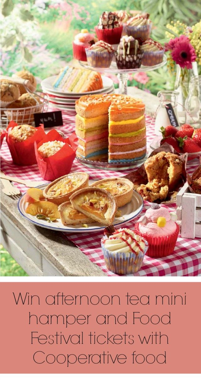 We have another gorgeous summer giveaway for you - a mini afternoon tea hamper from Cooperative Food PLUS Food Festival tickets as well. Closes on 20th July so GET IN QUICK