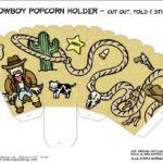 Kids movie night popcorn holders to print