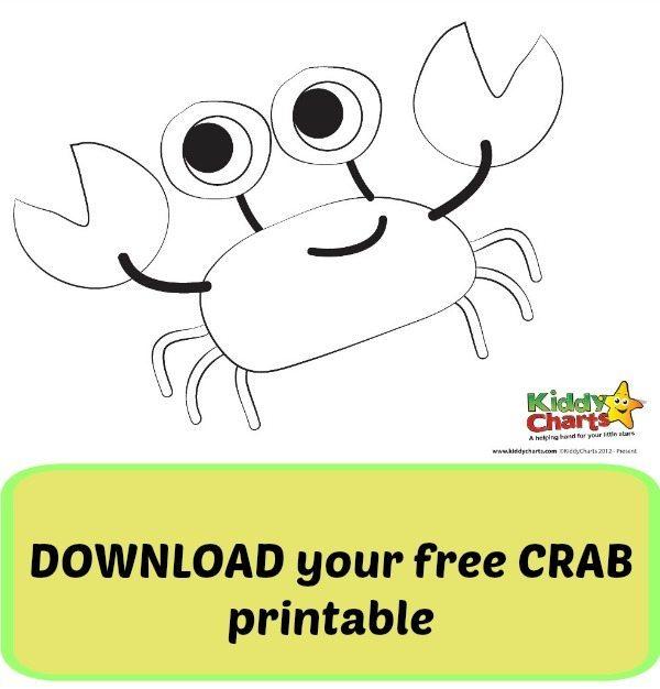 photo regarding Crab Printable called Crab printable