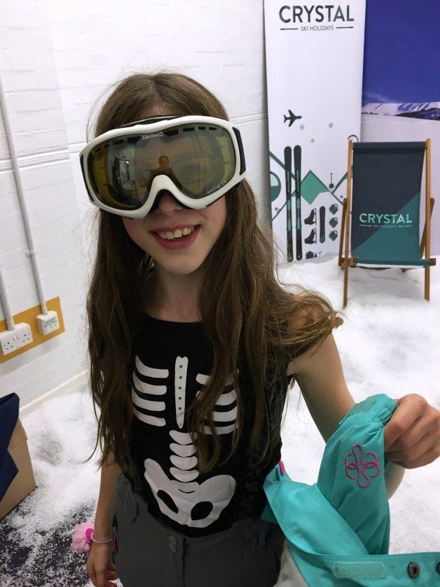 Crystal Ski girl - preparing to hit the slopes!