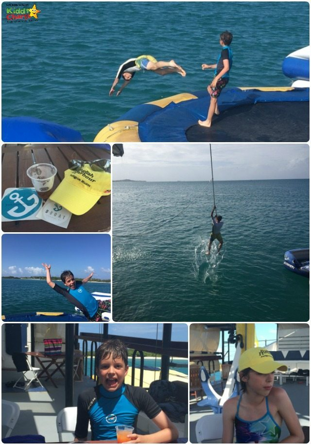 The D Boat in Antigua is a lot of fun - can you can see - a water park on an oil tanker, but it still works!