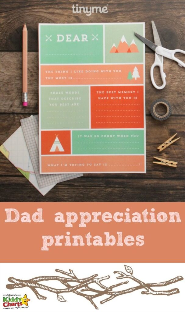 If you want to give Dad something to show your appreciateion for Fathers Day then these free printables are perfect. You could even frame them and give them to Dad as a gift.
