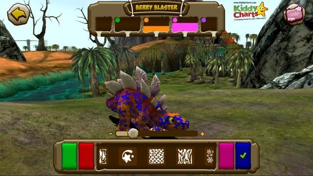 Dino Tales Berry Blaster helps you change your Dinosaur's colour when you want