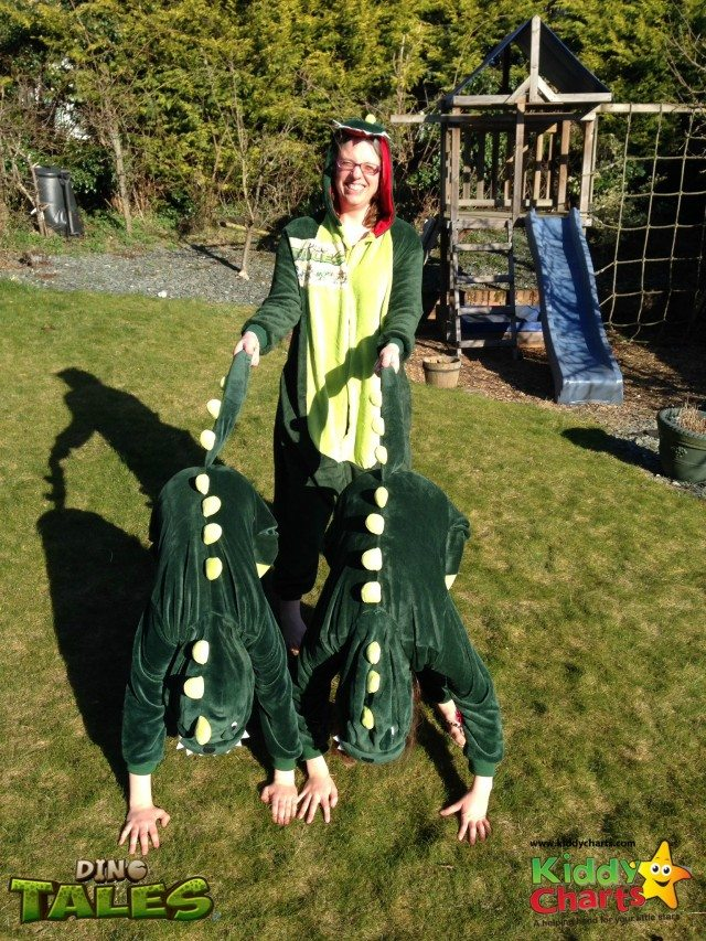 My Dinosaurs are saddled up and we are ready to boogie in the Comic Relief Danceathon!