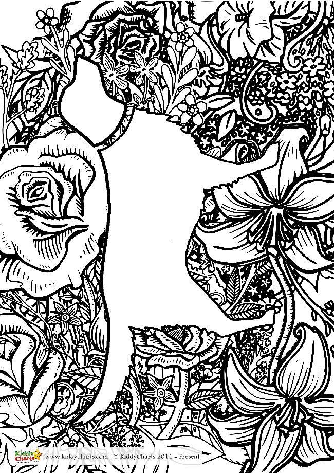 Free Printable Dog Coloring Page for Grown Ups