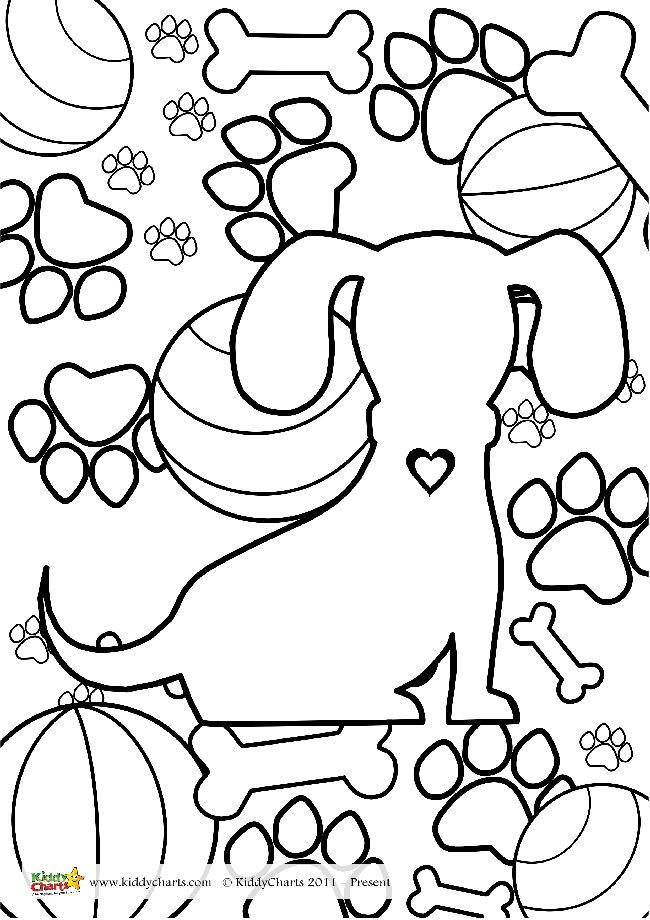 Free Printable Dog Coloring Page for Kids