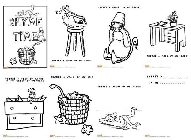 Here are some fantastic Dr Seuss coloring pages for you all - in our Rhyme Time activity booklet. Color in the monsters in our rhymes, and then make up all of your own!