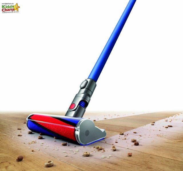 The Dyson Fluffy with the Total Clean is designed to pick up both large and small debris - including Cheerios!