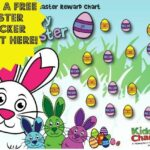 Come on our Easter Bunny and egg hunt with our new free chart!