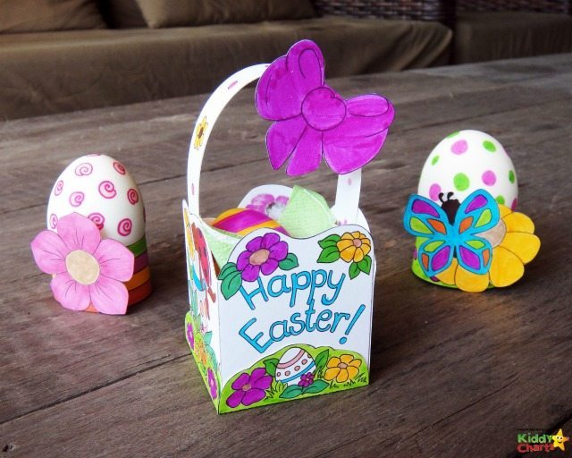 As Easter Basket is a vital part of any Easter Egg hunt, so we haven't disappointed you - here is one you can print out, and easily stick together for the kids. Complete by coloring it in as well, so much fun for the kids to do - then get on with that Easter Egg hunt!