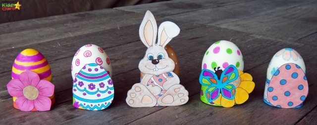Do you want to decorate those easer egg hunt eggs - then why not try these lovely Easter egg holders. Perfect for adding a bit of color to your Easter egg hunt