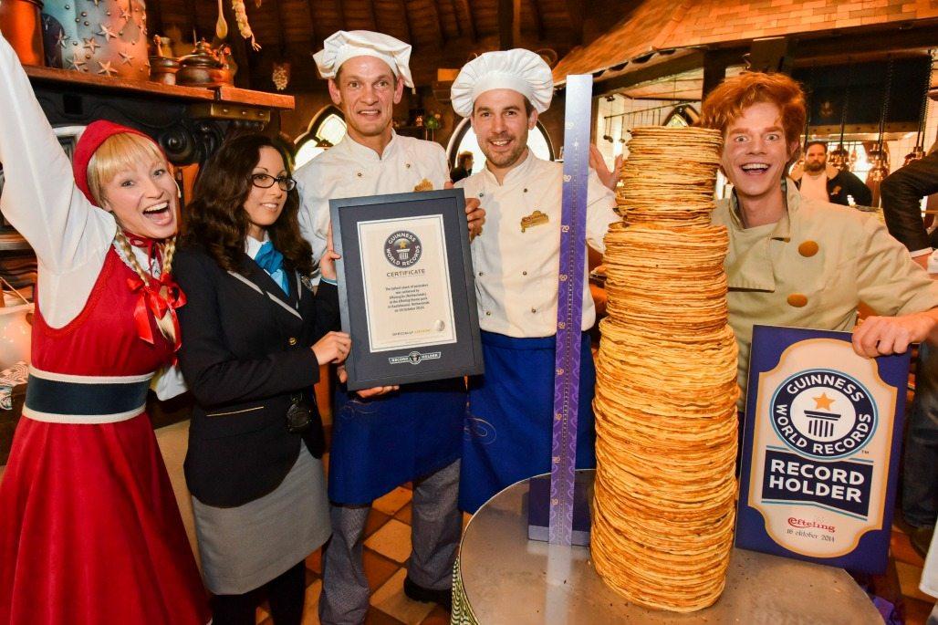 The worlds largest pancake stack. Photo at Polles Keuken