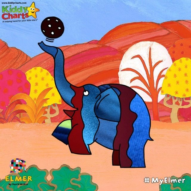 Elmer Photo Patchwork finished pictures are easy to save from the App into your photo collection to keep.