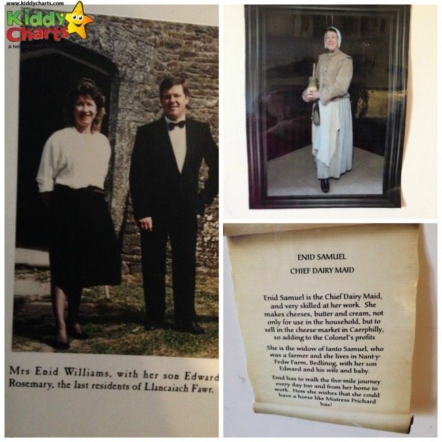 Llancaiach Fawr's last resident helps to show you around the kitchens as the chief dairy maid, Enid Samuel