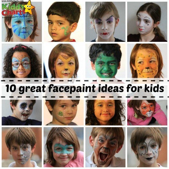 Facepaint ideas: header