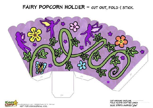 Printable Fairy Popcorn Holder for Kids