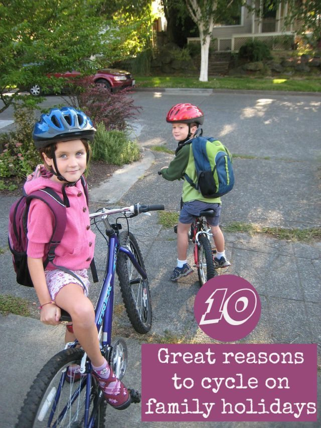 I am a cycling widow - but I don't mind, as we cycle regularly when we go on holiday, and it really is great for the kids. See for yourself!