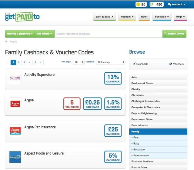 Checking out the family offers on GetPaidTo