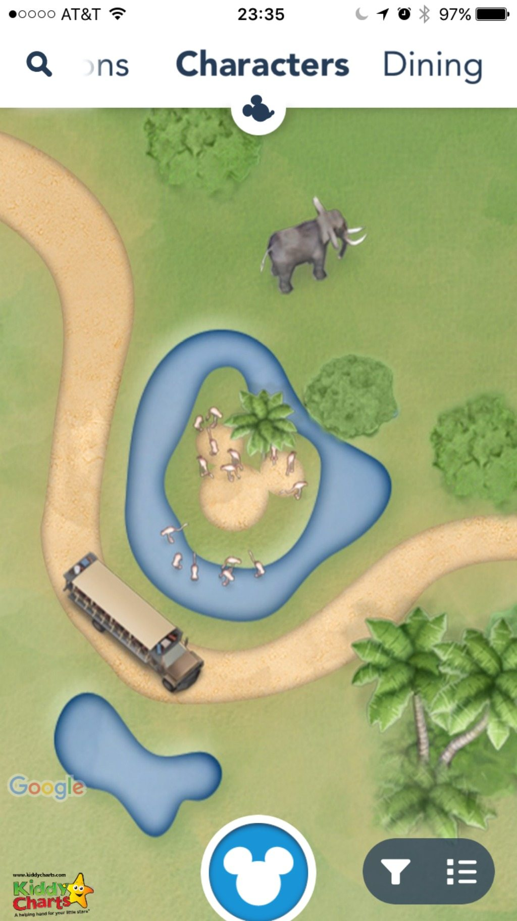 Some of the best hidden mickeys are actually in the Disney app - so you can see them at your leisure - can you spot this one in Kilimanjaro Safari? Check out the others in our article!