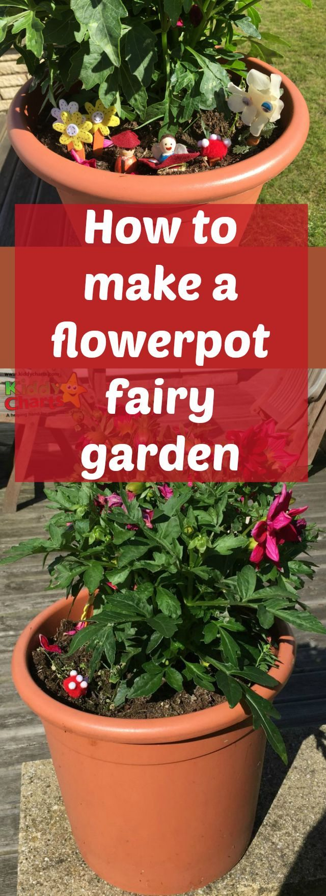 Crafts in the grden are a lovely thing to do with the kids - and this flowerpot fairy garden is no exception. Simple to make, and such fun to play with, the kids are bound to love it - ours definitely did!