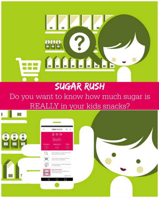 Do you know how much sugar is in your kids snacks? Are you picking the right kids snack in the supermarket isle? Use Food Maestro to find out!