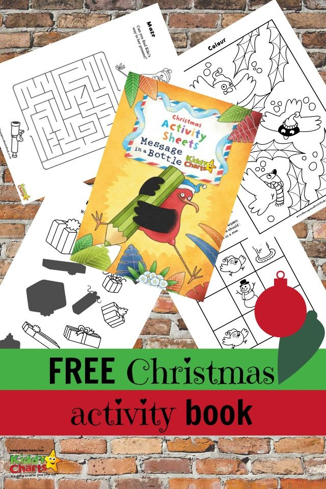 Free christmas activity book for the kids, with gorgeous illustrations from the Message in a Bottle author/illustrator.