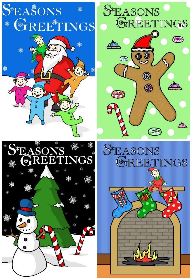 We have soe free Christmas Cards for you to download if you are having a Thrifty Christmas. There are four designs and something for everyone.