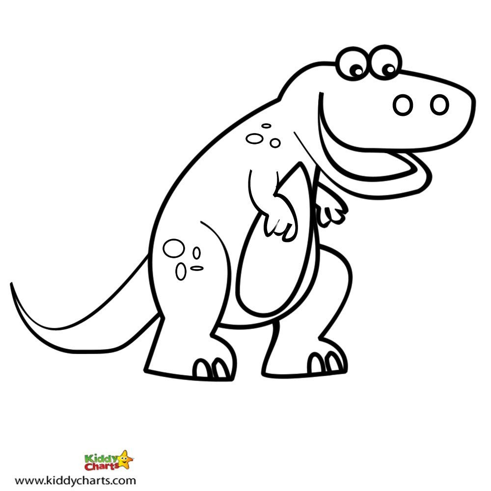 Free dinosaur coloring pages let the t rex in you out for Free t rex dinosaur coloring pages