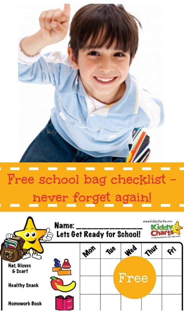 Do you forget things when you are trying to get the kids to school in the moorning? Then you need one of our fantastic checklists then - right now! It's free :-D