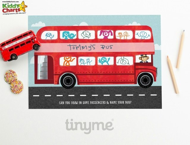 Bet you can't resist a rather scrummy red London bus for the kids to personalise and draw their own passengers on can you? Nope thought not.