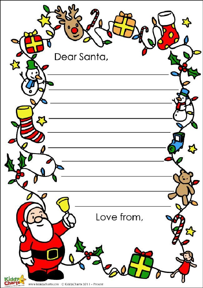 Anoterh Santa letter design for you, this time with lots of stuff from Santa, to presents and everything else in between!